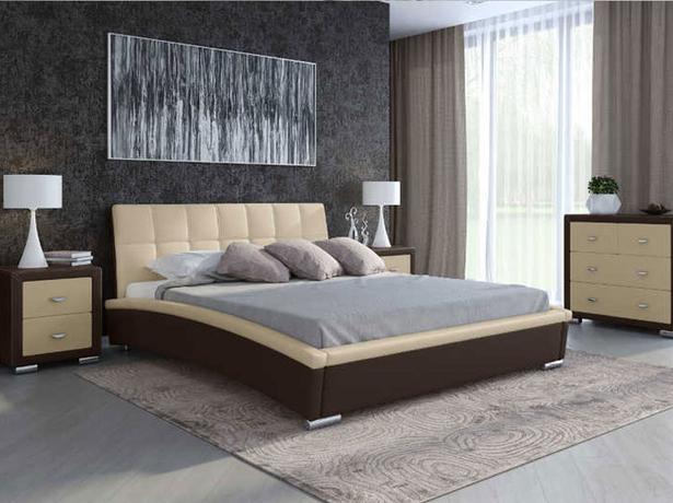 Кровать Corso 1 (Samoa) венге-крем