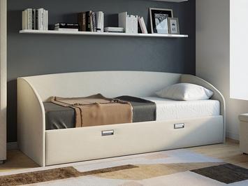 Односпальная кровать Bono в ткани